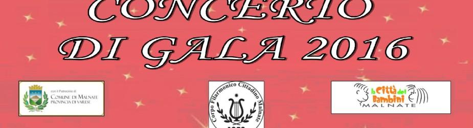 SABATO 17 DICEMBRE: CONCERTO DI GALA 2016!!